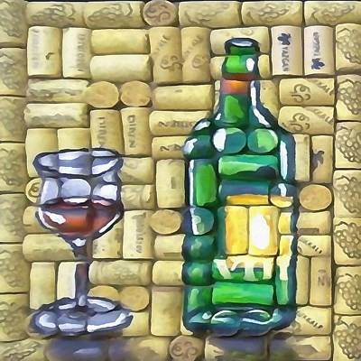 Painting - The Wine Tasting by Taiche Acrylic Art
