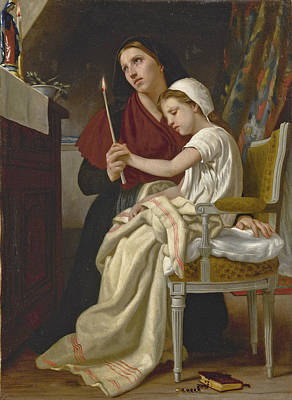 Painting - The Wish by William-Adolphe Bouguereau