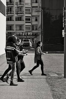 Photograph - The Women Are Looking For A Sunny Place For Their Lunch by Michael Nguyen