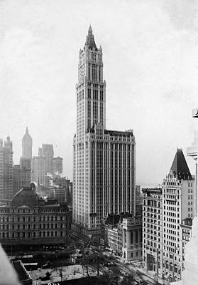The Woolworth Building On Broadway Art Print by Fpg
