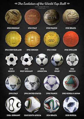 Digital Art - The World Cup Balls by Zapista Zapista
