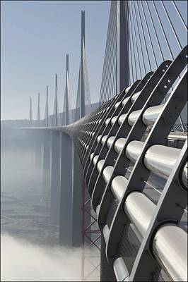 General Photograph - The Worlds Tallest Bridge In Millau by Raphael Gaillarde