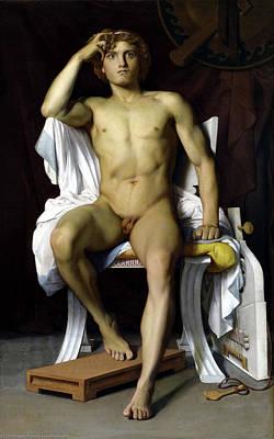 Painting - The Wrath Of Achilles by Francois Leon Benouville