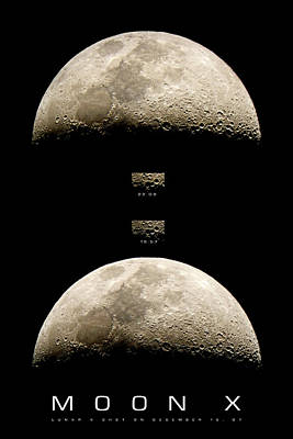 Photograph - The X On The Moon No2 by Weston Westmoreland