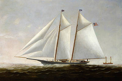 Painting - The Yacht America by Charles S Raleigh