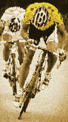 Digital Art - The Yellow Jersey by Gary Grayson
