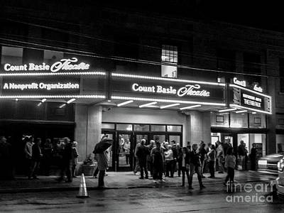 Photograph - Theater Night In Black And White by Colleen Kammerer