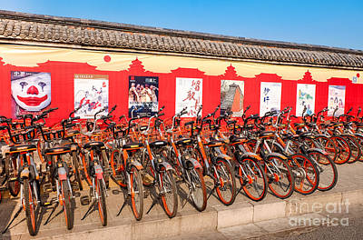Photograph - Theater Posters And Bikes by Iryna Liveoak
