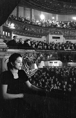 Photograph - Theatre Audience by Felix Man