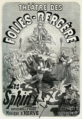 Drawing - Theatre Des Folies-begere Vintage Poster by French School
