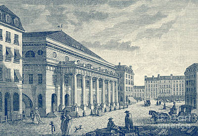Drawing - Theattre De L Odeon, Paris Before Fire Of 1799 by French School