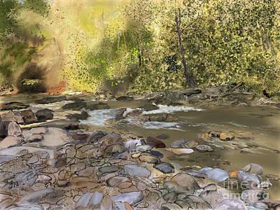 Digital Art - The Old Swimming Hole by Joel Deutsch