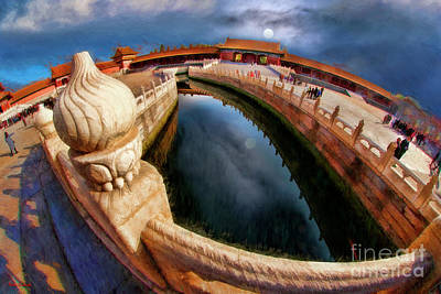 Photograph - The Golden Water Forbidden City Tai He Men Gate Of Supreme Harmony In Beijing by Blake Richards
