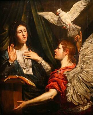 Painting - Theodor Van Loon   The Annunciation   1600 1649 by Celestial Images