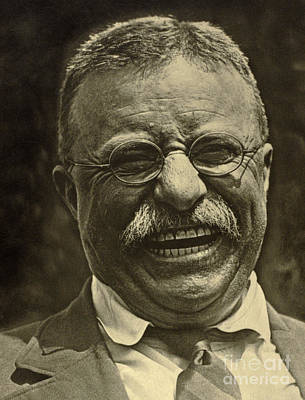 Photograph - Theodore Roosevelt Laughing by American School