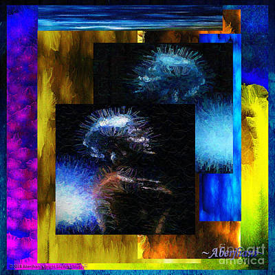 Mixed Media - These Colors I Hear When Nancy Wilson Sings Turned To Blue  by Aberjhani