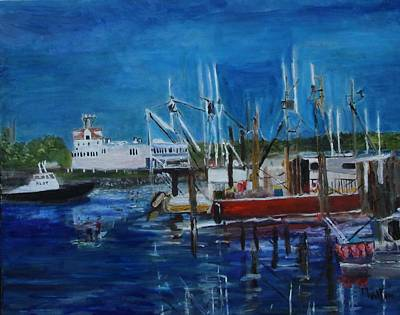 Painting - The Sun Shines On Sandwich Basin by Michael Helfen