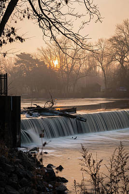 Photograph - Thiensville Dam In December by James Meyer