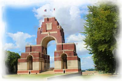 Digital Art - Thiepval Memorial Painting by JLowPhotos