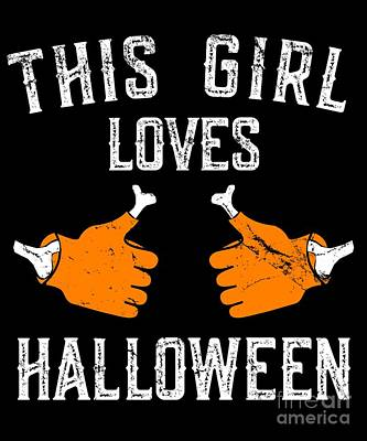 Digital Art - This Girl Loves Halloween by Flippin Sweet Gear