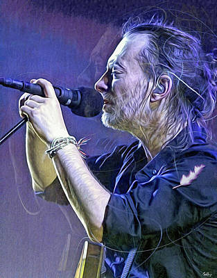 Recently Sold - Musicians Royalty Free Images - Thom Yorke Royalty-Free Image by Mal Bray