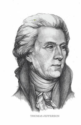 Politicians Royalty-Free and Rights-Managed Images - Thomas Jefferson by Joan Garcia