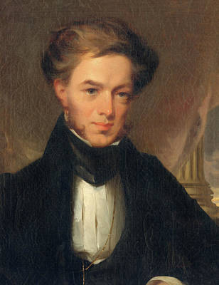 Painting - Portrait Of Thomas Ustick Walter, 1835 by John Neagle