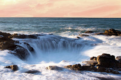 Photograph - Thor's Well Sunset 1115 by Rospotte Photography