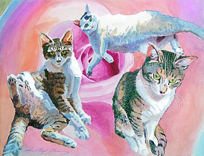 Painting - Those Darn Cats by David Lloyd Glover