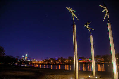 Photograph - Three Angels At Night by Bill Cannon