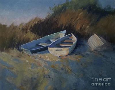 Painting - Three Boats by Mary Hubley