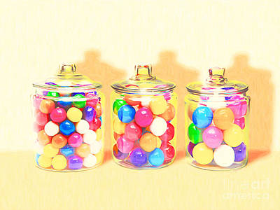 Photograph - Three Candy Jars Big Bigger Biggest Pop Art 20180925 by Wingsdomain Art and Photography