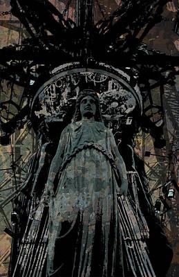 Digital Art - Three Caryatids by Jason Casteel