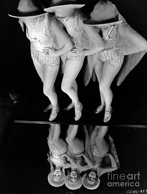 Travel Rights Managed Images - Three Chorus Girls Hollywood Musical 1930 Royalty-Free Image by Sad Hill - Bizarre Los Angeles Archive