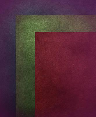 Digital Art - Three Color Abstract Harmony Art by Johanna Hurmerinta