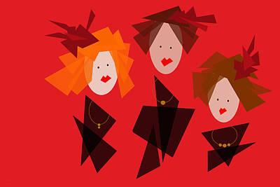 Digital Art - Three Divas by Val Arie
