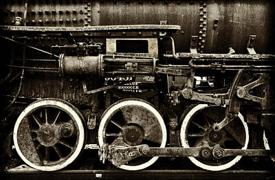 Photograph - Three Drive Wheels by Paul W Faust - Impressions of Light