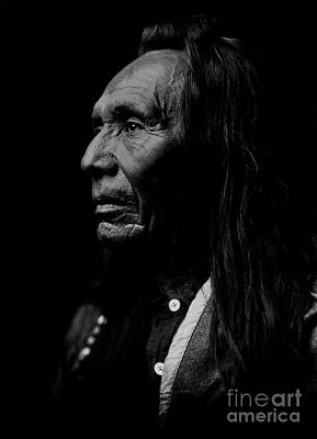 Photograph - Three Eagles - Indian Warrior by Doc Braham