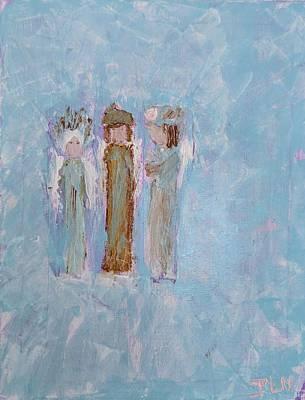Three Friendly Angels Art Print