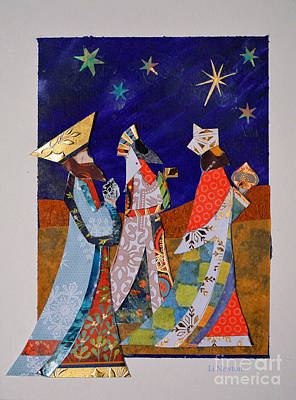 Mixed Media - Three Kings by Li Newton