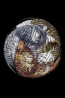 Digital Art - Three Kittens In A Ball Of Yarn by John Haldane