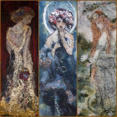 Painting - Three Ladies by Susanne Weber