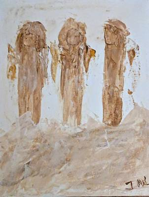 Three Little Muddy Angels Art Print