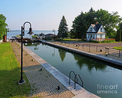Photograph - Three Lock Staircase In Chambly Quebec by Louise Heusinkveld