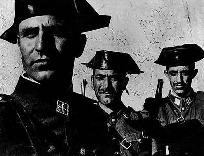 Photograph - Three Members Of Dictator Francos Feare by W. Eugene Smith