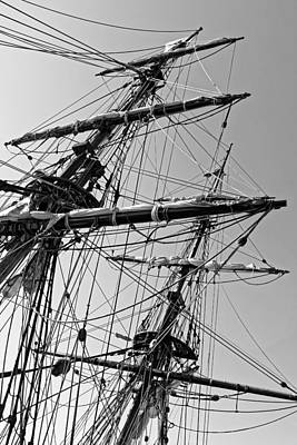 Photograph - Three Miles Of Rigging - Lady Washington by KJ Swan