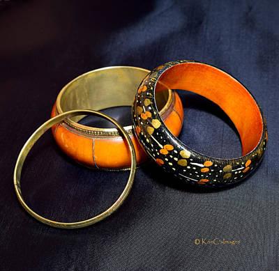 Photograph - Three Old Bracelets by Kae Cheatham