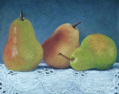 Pastel - Three Pears by Michelle Welles