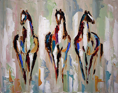 Painting - Three Remain by Laurie Pace
