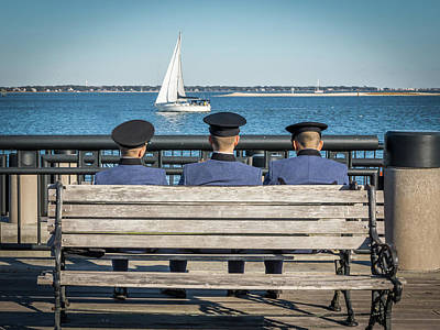 Photograph - Three Sailors by Framing Places